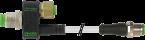 T-Stück M12-Bu 8p / M12-St 3p + M12-St 4p + Ltg