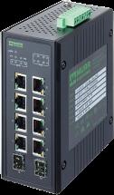 10 Port Unmanaged Gigabit Switch 4 PoE 2 SFP Ports IP20 Metall