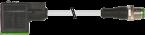 M12 St. 0° A-kod. / MSUD Ventilst. A-18mm