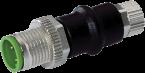 Adapter M12 St. / M8 Bu. 3p., Belegung 1,3,4