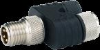 T-coupler M8 Nano male A-cod. / 2x female A-cod.