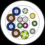 50m Vert.Ltg. PUR/PVC-JB 8x0,34+5x0,75