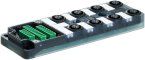 Exact12, 8xM12, 5 pol., Grundmodul PNP-LED