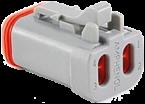 E/A-Stecker mit Endkappe und Kontaktsicherung