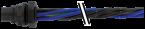 MQ15-X-Power Flanschstecker Vorderwandmontage