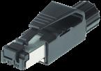 RJ45-Ethernet-St gerade,geschirmt 4pol, IP20