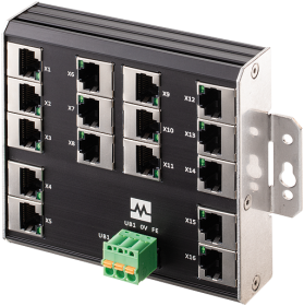Xenterra 16TX unmanaged Switch Wandmontage 16 Port 100Mbit