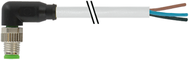 M8 male 90° with cable
