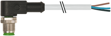 M12 male 90° with cable