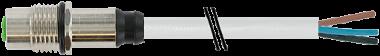 M12 Flanschbuchse A-cod. freies Ltg.-ende  HWM