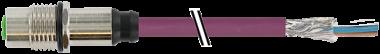 M12 Flanschbuchse B codiert Hinterwand Profibus