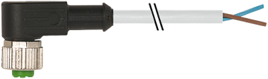 M12 female 90° with cable Cube67