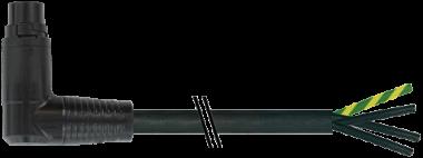 MQ15-X-Power St. 90° rechts, freies Ltg.-ende