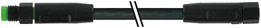 M8 MALE 0° / M8 FEMALE 0° SC