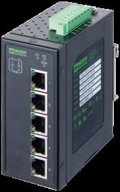 5 Port Unmanaged Gigabit Switch 4 PoE Ports IP20 Metall 48 V