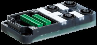 Exact12, 4xM12, 5-pol., Grundmodul ohne LED