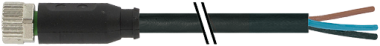 M8 female 0° with cable