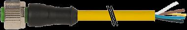 M12 Bu. ger. mit freiem Leitungsende V2A