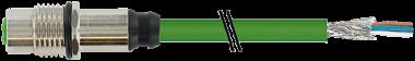 M12 Bu. Flansch D-cod. gesch. HWM Ethernet