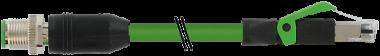 M12 male 0° / RJ45 male 0° shielded Ethernet V2A