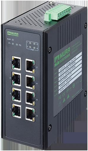 8 Port Unmanaged Gigabit Switch 4 PoE Ports IP20 Metall