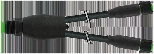 M12 Y-Verteiler auf M8 Bu. 0° SC
