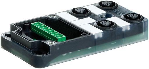 Exact12, 4xM12, 4-pol., Grundmodul NPN-LED