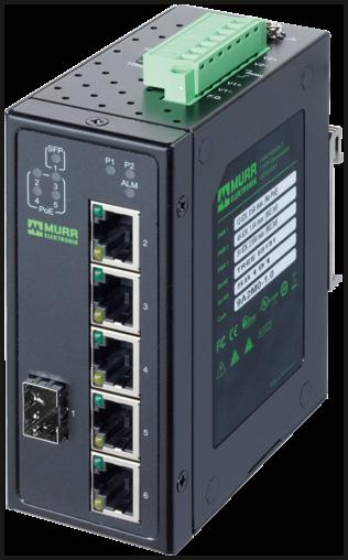 6 Port Unmanaged Gigabit Switch 4 PoE 1 SFP Ports IP20 Metall 48V