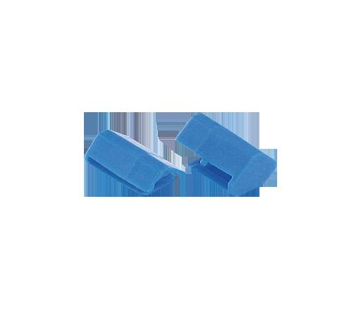 WIRING ACCESSORIE END CAP BLUE