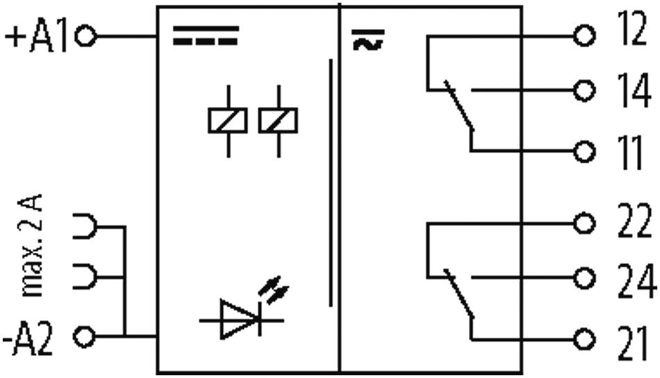 52102 Murr  24 V DC Schraubklemmen MIRO 12,4 24VDC-2U Ausgangsrelais IN 24 VDC